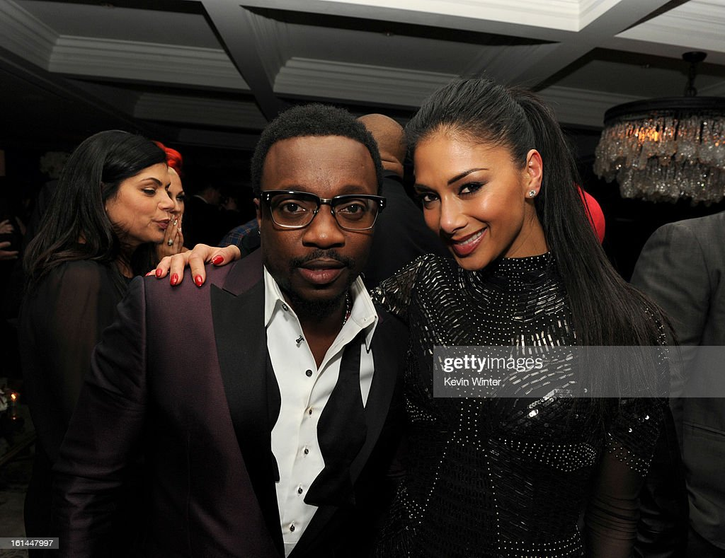 Anthony Hamilton and Nicole Scherzinger attend the Maroon 5 Grammy After Party & Adam Levine Fragrance Launch Event on February 10, 2013 in West Hollywood, California.