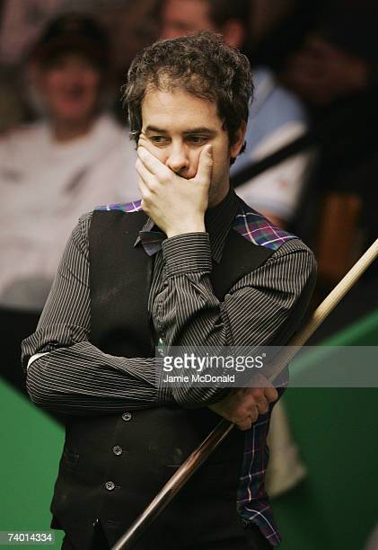 Anthony Hamilton of England in action during his second round match against Ian McCulloch of England in the 888com World Championship at the Crucible...