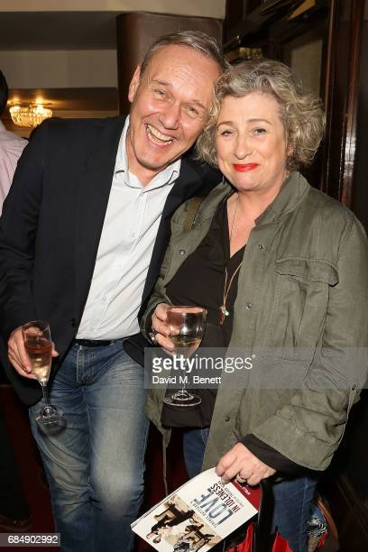 Anthony Head and Caroline Quintin attend the press night performance of 'Love In Idleness' at The Apollo Theatre on May 18 2017 in London England