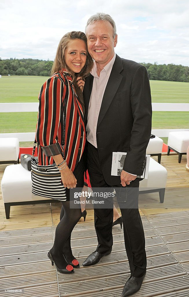 Anthony Head (R) and daughter Daisy Head attend day 2 of the Audi Polo Challenge at Coworth Park Polo Club on August 4, 2013 in Ascot, England.