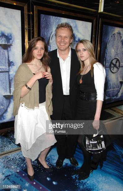 Anthony Head and Daughters during 'Poseidon' European Film Premiere Inside Arrivals at Empire Leicester Square in London Great Britain