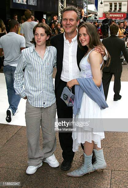 Anthony Head and family during 'I ROBOT' London Premiere Arrivals at Leicester Square Odeon in London Great Britain