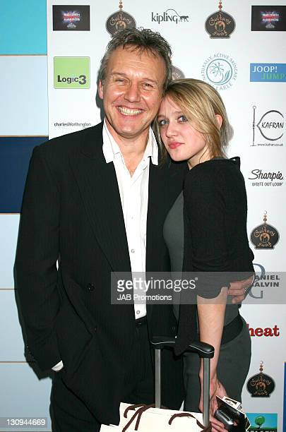 Anthony Head and guest backstage in the Sultans of Swag Gift Lounge at the 2006 British Comedy Awards