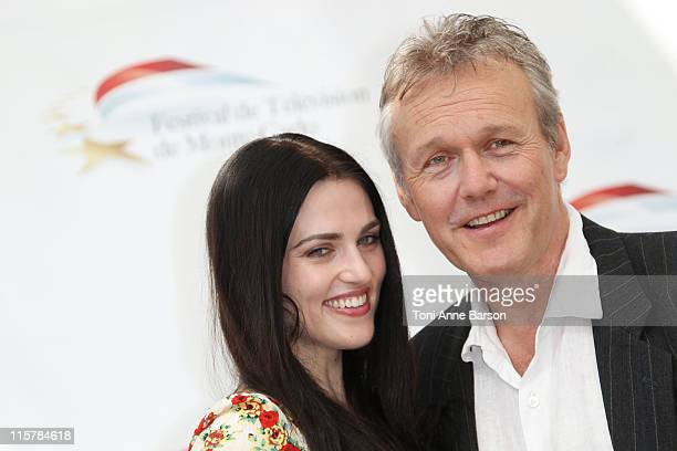 Anthony Head and Katie McGrath attends Photocall for 'The Adventures Of Merlin' during the 51st Monte Carlo TV Festival on June 10 2011 in Monaco...
