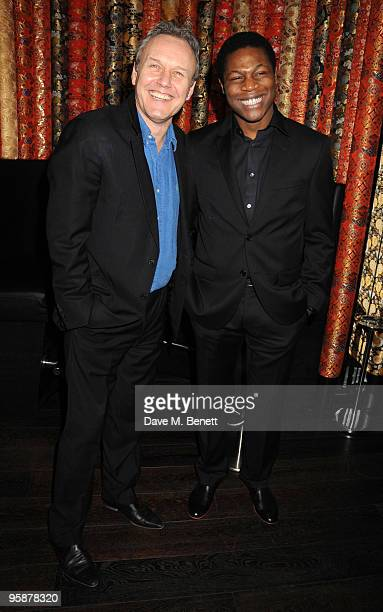 Anthony Head and Obi Abili attend the afterparty following the press night of 'Six Degrees Of Separation' at Aqua on January 19 2010 in London England