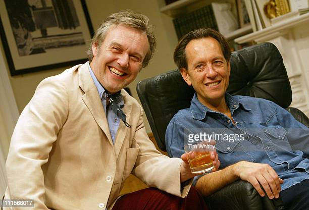 Anthony Head and Richard E Grant during 'Otherwise Engaged' Photocall at The Criterion Theatre in London Great Britain