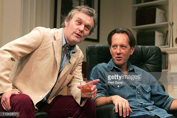 Anthony Head and Richard E Grant during Otherwise Engaged Photocall 26 October 2005 at The Criterion Theatre in London Great Britain