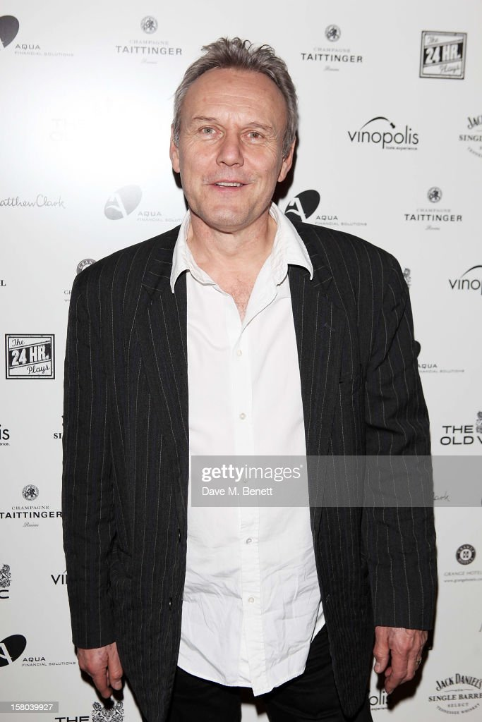 Anthony Head attends an after party celebrating the 24 Hour Musicals Gala Performance at Vinopolis on December 9, 2012 in London, England.