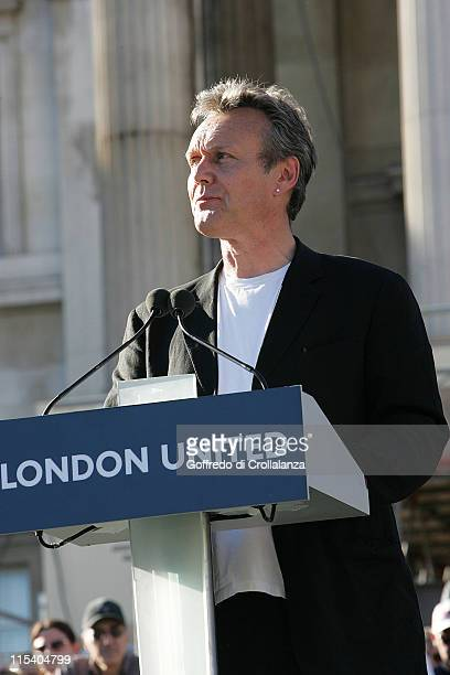 Anthony Head during Vigil in Trafalgar Square to Remember the Victims of the London Terrorist Attacks at Trafalgar Square in London Great Britain