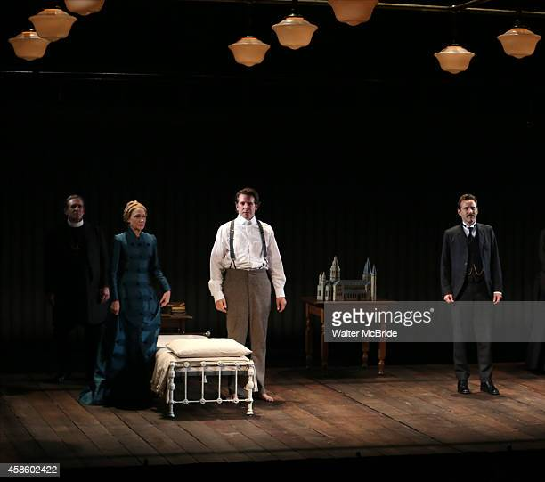 Anthony Heald Bradley Cooper Patricia Clarkson and Alessandro Nivola during the Curtain Call for the first Broadway preview performance of 'The...