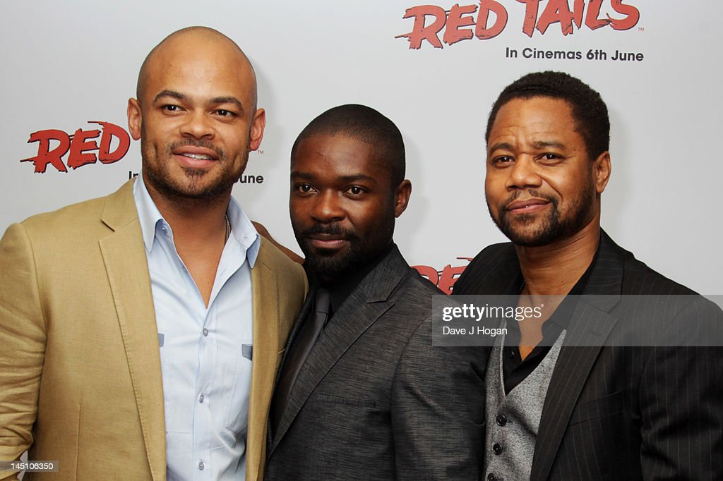 Anthony Hemingway David Oyelowo and Cuba Gooding Jr attend a gala screening of Red Tails at The Mayfair Hotel on May 23 2012 in London England
