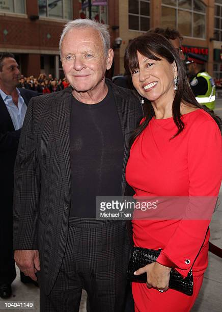 Anthony Hopkins and wife Stella Arroyave arrive to the 'You Will Meet A Tall Dark Stranger' premiere during the 2010 Toronto International Film...