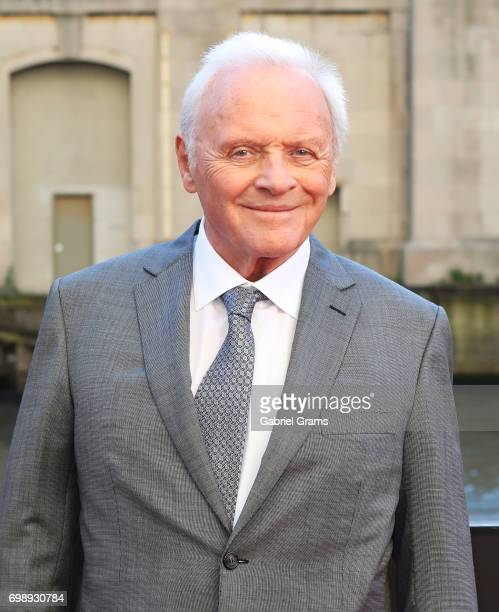 Anthony Hopkins arrives for the premiere of 'Transformers The Last Knight' at Civic Opera Building on June 20 2017 in Chicago Illinois