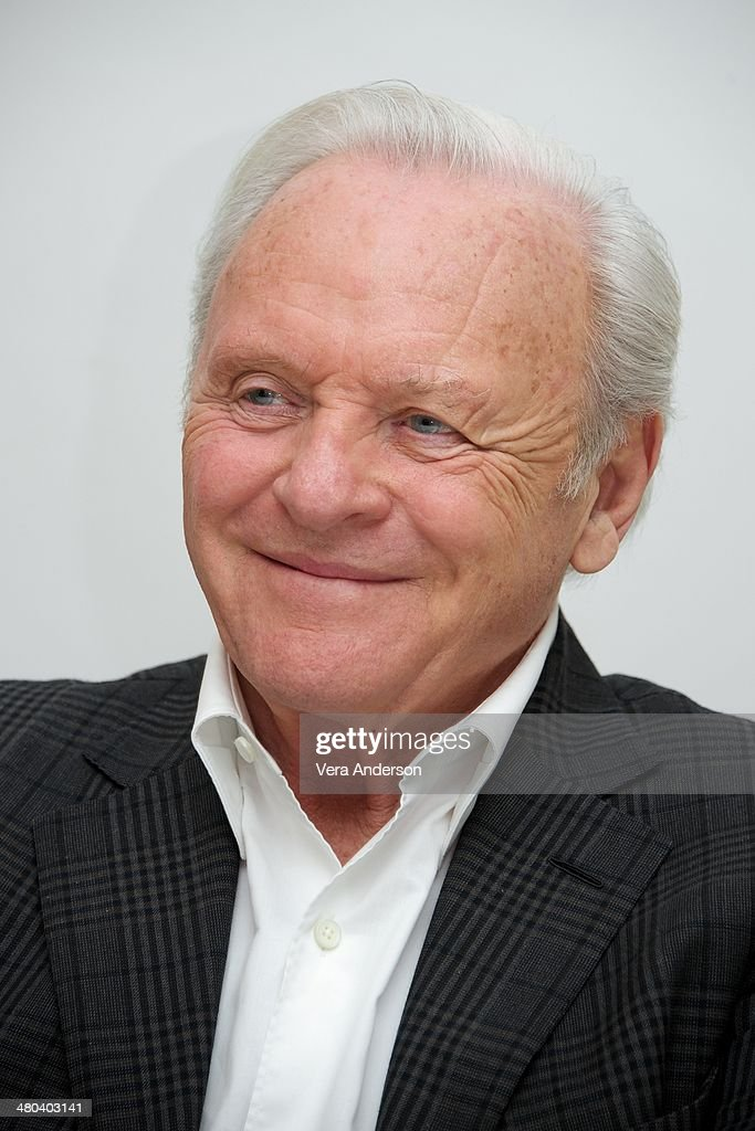 Anthony Hopkins at the 'Noah' Press Conference at the Four Seasons ...