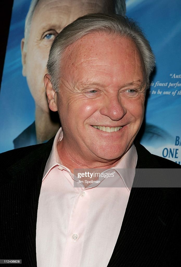 Anthony Hopkins during 'The World's Fastest Indian' New York Scre...