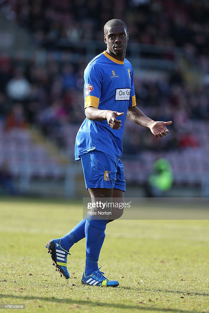 Anthony Howell of Mansfield Town in action during the Sky Bet League Two match between Northampton Town and Mansfield Town at Sixfields on March 15, 2014 in Northampton, England.