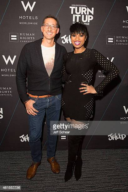 Anthony Ingham and Jennifer Hudson attend W Hotels and Jennifer Hudson Turn It Up For Change to Benefit HRC at W ChicagoLakeshore on January 15 2015...