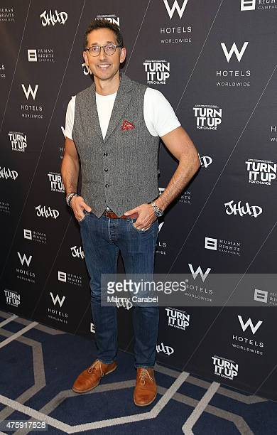Anthony Ingham attends Turn It Up For Change panel discussion and screening of Jennifer Hudson's ' I Still Love You ' music video at W Union Square...
