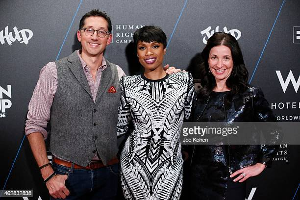 Anthony Ingham Jennifer Hudson and Suzanne Cohen attend Turn It Up For Change ball to benefit HRC at W Hollywood on February 5 2015 in Hollywood...