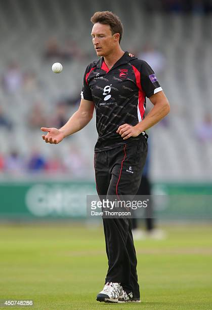 Anthony Ireland of Leicestershire Foxes during the Lancashire Lightning v Leicestershire Natwest T20 Blast at Old Trafford on June 13 2014 in...