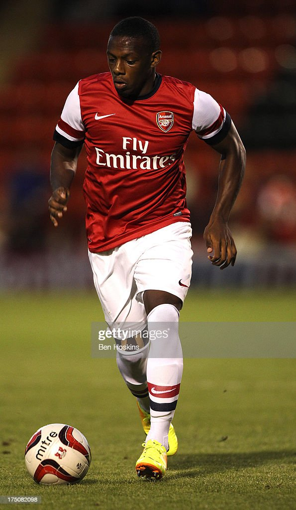 Anthony Jeffrey of Arsenal in action during a pre season friendly match between Leyton Orient and an Arsenal XI at the Matchroom Stadium on July 30, 2013 in London, England.