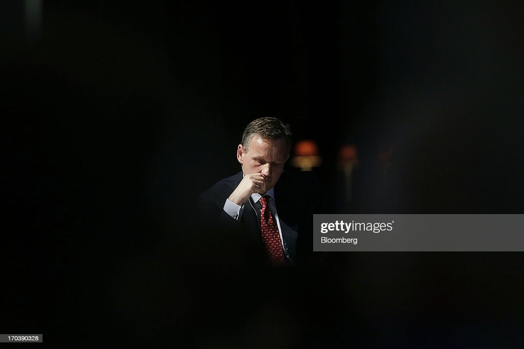 <a gi-track='captionPersonalityLinkClicked' href=/galleries/search?phrase=Anthony+Jenkins&family=editorial&specificpeople=3563847 ng-click='$event.stopPropagation()'>Anthony Jenkins</a>, chief executive officer of Barclays Plc, listens during the 'What kind of City do we want? Good Banks' debate at St Paul's cathedral in London, U.K., on Wednesday, June 12, 2013. Britain's four biggest banks will have eliminated about 189,000 jobs by the end of this year from their peak staffing levels, bringing employment to a nine-year low amid a dearth of revenue. Photographer: Matthew Lloyd/Bloomberg via Getty Images