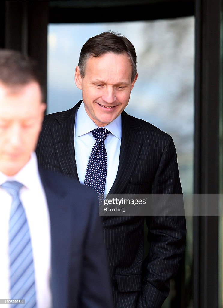 <a gi-track='captionPersonalityLinkClicked' href=/galleries/search?phrase=Anthony+Jenkins&family=editorial&specificpeople=3563847 ng-click='$event.stopPropagation()'>Anthony Jenkins</a>, chief executive officer of Barclays Plc., right, leaves Portculllis House after giving evidence to a Parliamentary Select Committee on Banking Standards in London, U.K., on Tuesday, Feb. 5, 2013. U.K. Chancellor of the Exchequer George Osborne said for the first time regulators will get the power to break up banks, hardening legislation aimed at making lenders safer. Photographer: Chris Ratcliffe/Bloomberg via Getty Images