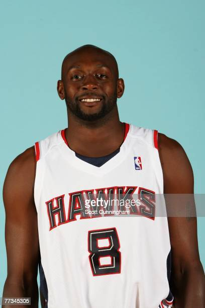 Anthony Johnson of the Atlanta Hawks poses for a portrait during NBA Media Day at Philips Arena on October 1 2007 in Atlanta Georgia NOTE TO USER...