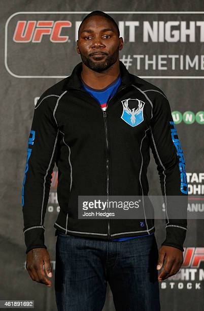 Anthony Johnson of the United States poses for photos during the UFC Ultimate Media Day at the Tele2 Arena on January 21 2015 in Stockholm Sweden