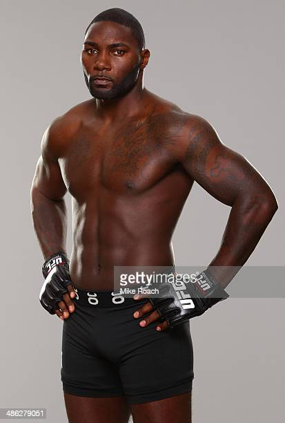 Anthony Johnson poses for a portrait during a UFC photo session on April 23 2014 in Baltimore Maryland