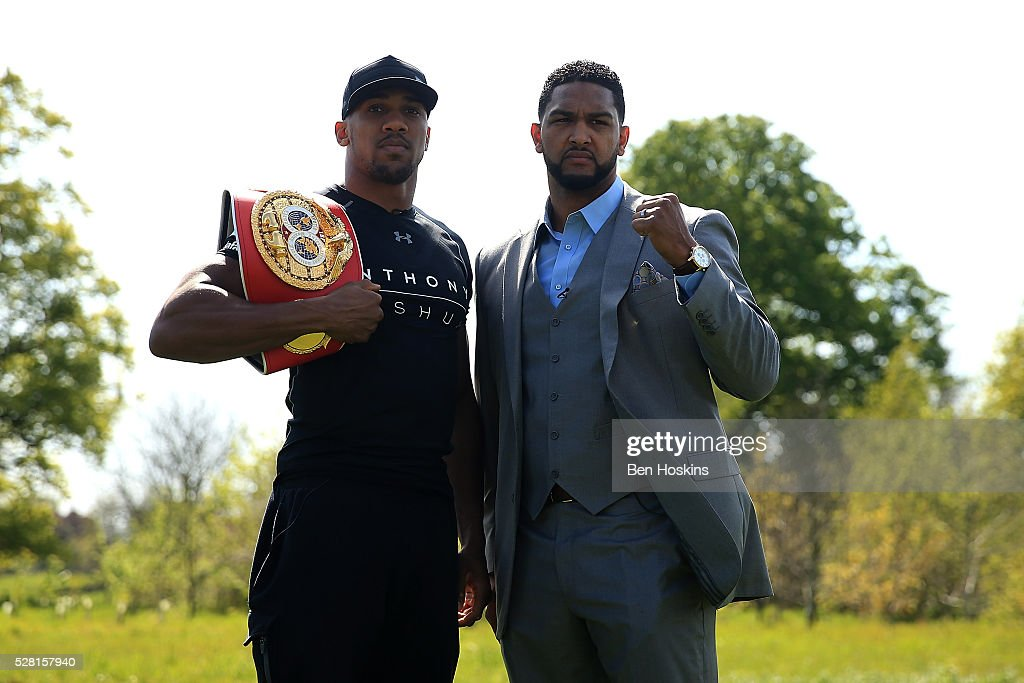 <a gi-track='captionPersonalityLinkClicked' href=/galleries/search?phrase=Anthony+Joshua&family=editorial&specificpeople=8598922 ng-click='$event.stopPropagation()'>Anthony Joshua</a> and <a gi-track='captionPersonalityLinkClicked' href=/galleries/search?phrase=Dominic+Breazeale&family=editorial&specificpeople=9610091 ng-click='$event.stopPropagation()'>Dominic Breazeale</a> face off during the <a gi-track='captionPersonalityLinkClicked' href=/galleries/search?phrase=Anthony+Joshua&family=editorial&specificpeople=8598922 ng-click='$event.stopPropagation()'>Anthony Joshua</a> and <a gi-track='captionPersonalityLinkClicked' href=/galleries/search?phrase=Dominic+Breazeale&family=editorial&specificpeople=9610091 ng-click='$event.stopPropagation()'>Dominic Breazeale</a> Press Conference on May 4, 2016 in London, England.