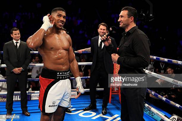 Anthony Joshua and Wladimir Klitschko announce their planned Heavyweight fight for April 2017 after Joshua's victory over Eric Molina of the United...