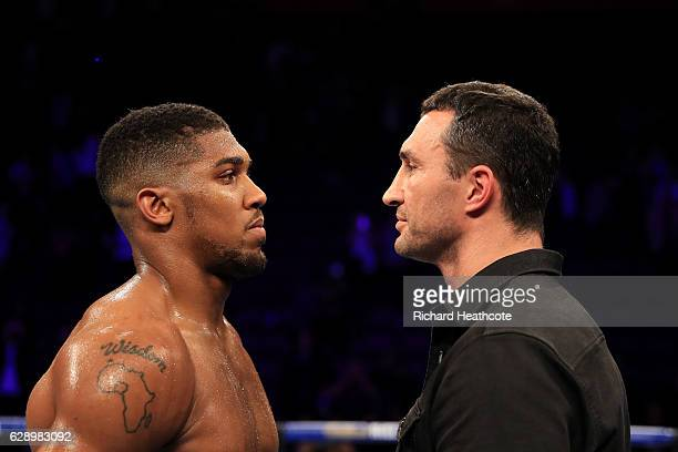 Anthony Joshua and Wladimir Klitschko announce thier planned Heavyweight fight for April 2017 after Joshua's victory over Eric Molina of the United...