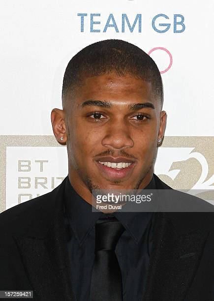 Anthony Joshua attends the British Olympic Ball on November 30 2012 in London England