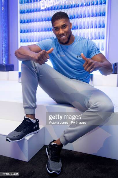Anthony Joshua during the media day for the launch event of FitWater by Lucozade Sport at the ME Hotel London