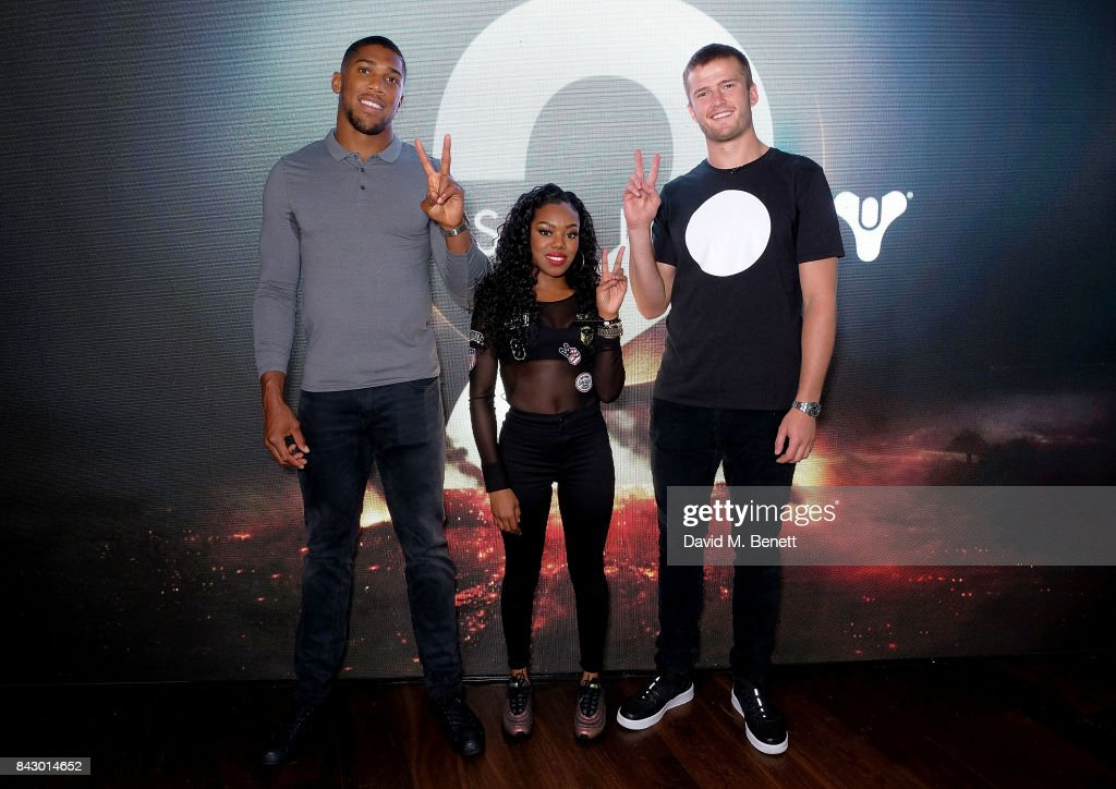 Anthony Joshua, Lady Leshurr and Eric Dier attend the Destiny 2 launch event on PlayStation 4. Available from Wednesday 6th September 2017 #Destiny2 at Mondrian Hotel on September 5, 2017 in London, England.