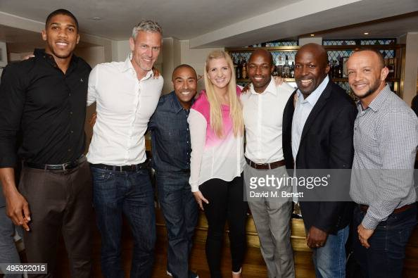 Anthony Joshua Mark Foster Colin Jackson Rebecca Adlington Marlon Devonish John Regis and Jamie Baulch attend an Olympian Sports Quiz night hosted by...