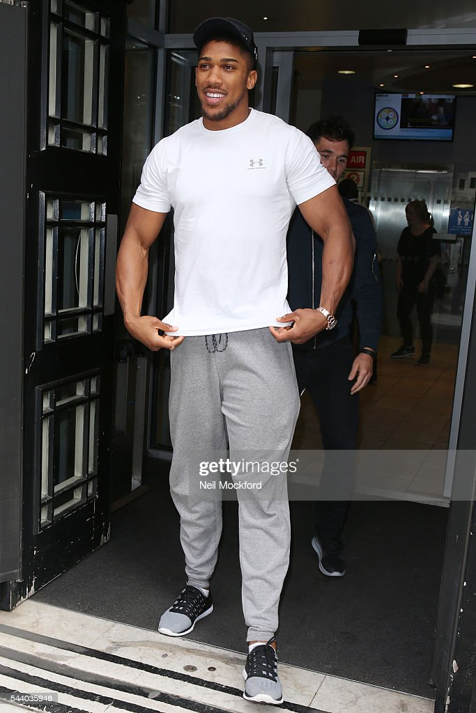 <a gi-track='captionPersonalityLinkClicked' href=/galleries/search?phrase=Anthony+Joshua&family=editorial&specificpeople=8598922 ng-click='$event.stopPropagation()'>Anthony Joshua</a> seen at BBC Radio 2 on July 1, 2016 in London, England.