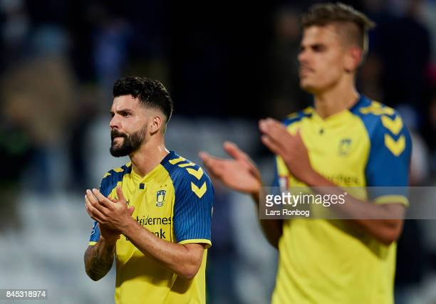 Anthony Jung of Brondby IF after the Danish Alka Superliga match between OB Odense and Brondby IF at EWII Park on September 10 2017 in Odense Denmark