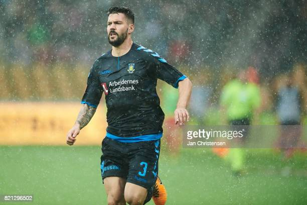 Anthony Jung of Brondby IF in action during the Danish Alka Superliga match between FC Nordsjalland and Brondby IF at Right to Dream Park on July 23...