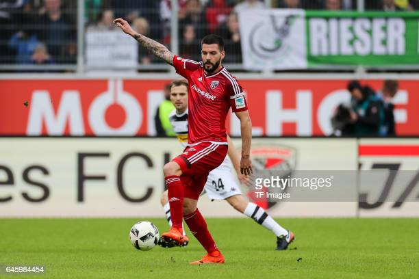Anthony Jung of Ingolstadt controls the ball during the Bundesliga match between FC Ingolstadt 04 and Borussia Moenchengladbach at Audi Sportpark on...