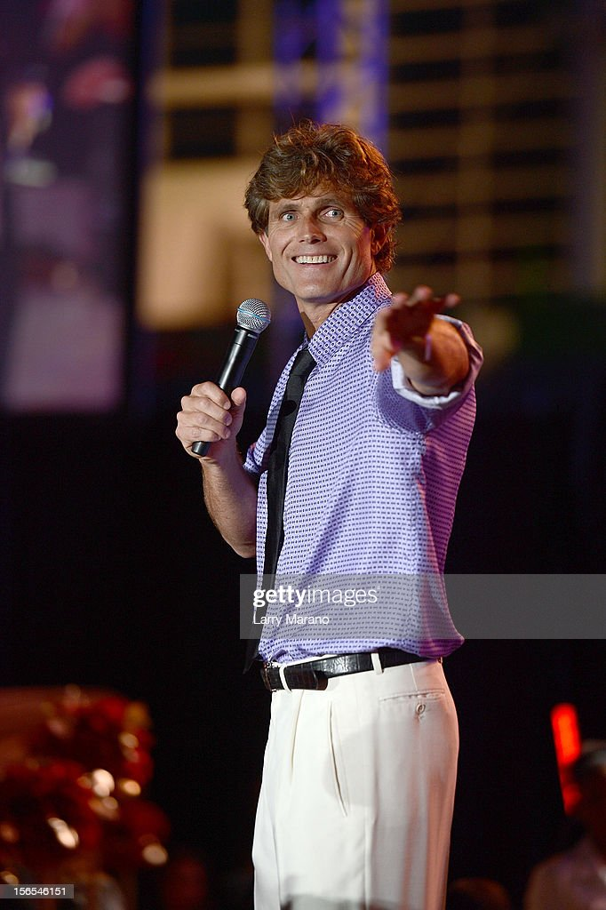 Anthony K. Shriver speaks at the Zenith Watches Best Buddies Miami Gala at Marlins Park on November 16, 2012 in Miami, Florida.