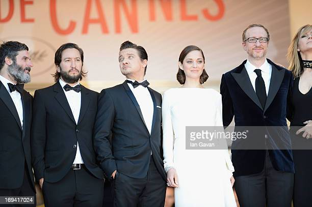 Anthony Katagas actor Greg Shapiro actor Jeremy Renner Marion Cotillard director James Gray and Alexandra Gray attend 'The Immigrant' Premiere during...