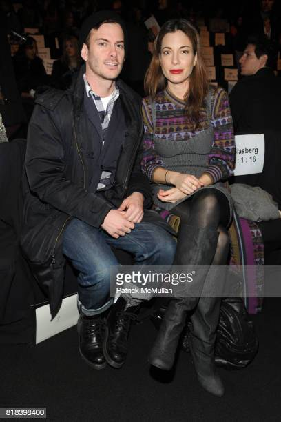 Anthony Keegan and Kate Krone attend MAX AZRIA Fall 2010 Collection at Bryant Park Tents on February 16 2010 in New York City