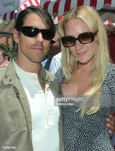 Anthony Kiedis and Chloe Sevigny during Virgin Party Summer BBQ Tour at 8302 Sunset Blvd in Hollywood CA United States