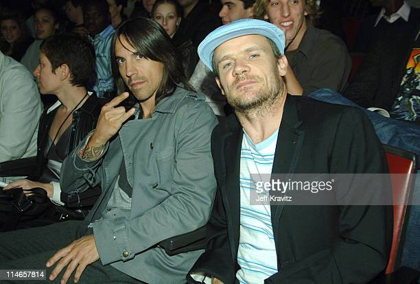 Anthony Kiedis and Flea during 2005 Spike TV Video Game Awards Backstage and Audience at Gibson Amphitheater in Universal City California United...