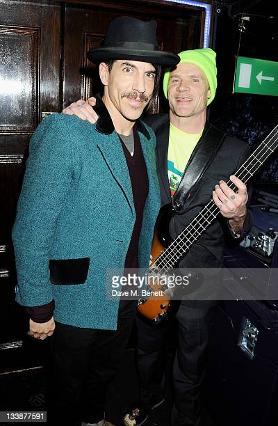 Anthony Kiedis and Flea of Red Hot Chili Peppers attends The Hoping Variety Show A Benefit Evening For Palestinian Refugee Children at Cafe de Paris...
