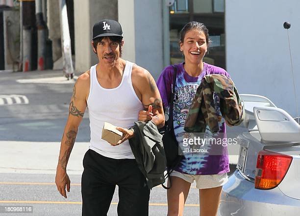 Anthony Kiedis and Helena Vestergaard are seen in Santa Monica on September 18 2013 in Los Angeles California