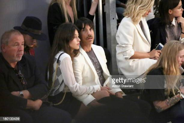 Anthony Kiedis and Helena Vestergaard attend the Tommy Hilfiger Women's fashion show during MercedesBenz Fashion Week Spring 2014 at Pier 94 on...