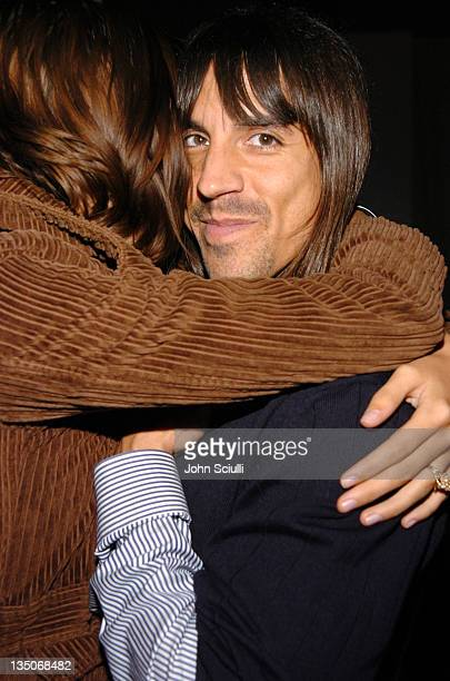 Anthony Kiedis and Nika during 2nd Annual Lingerie Art Auction and Fashion Show Hosted by Fredericks of Hollywood Show at Hollywood Roosevelt Hotel...